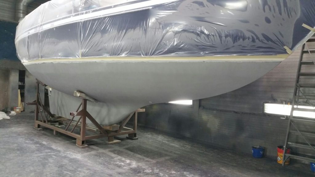 Onderwaterschip stralen en coaten